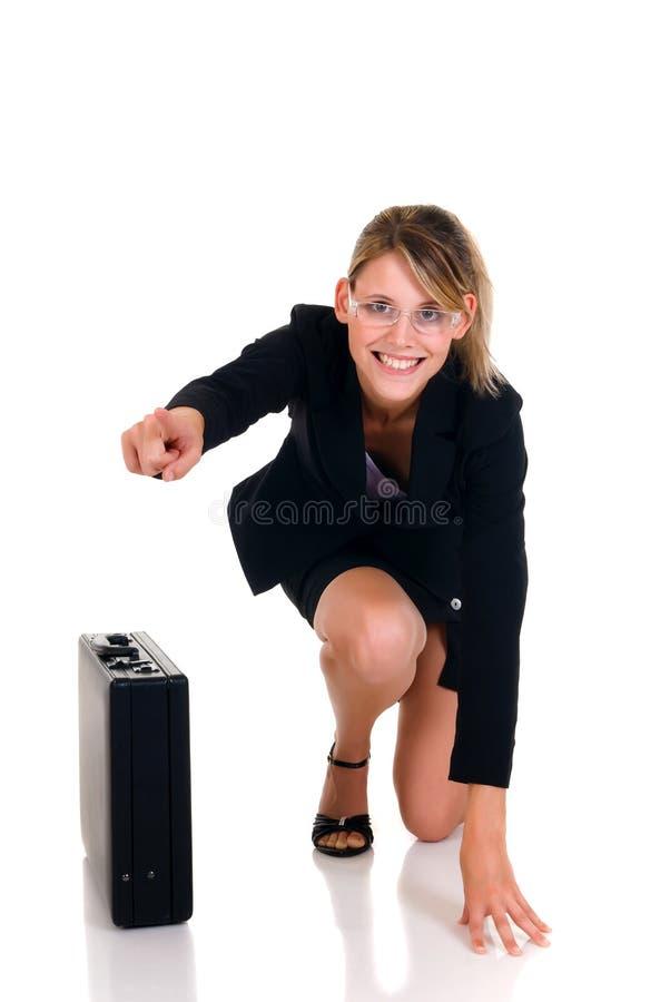 Joyful Businesswoman Royalty Free Stock Photos