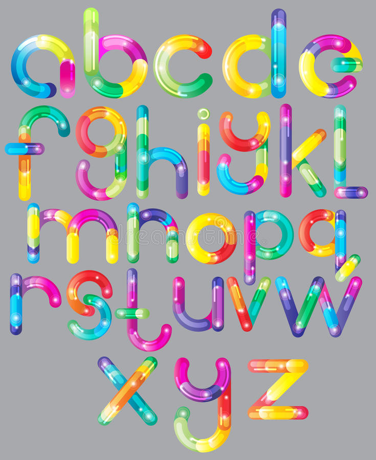 Download Joyful Cartoon Font - Letter From A To Z Stock Illustration - Image: 23820906