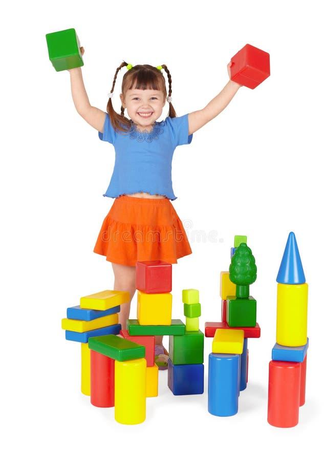 Download Joyful Child - Builder On White Background Stock Image - Image: 13424435