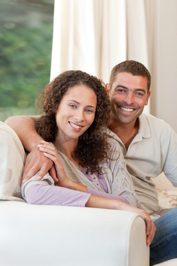 Joyful Couple Looking At The Camera Royalty Free Stock Image