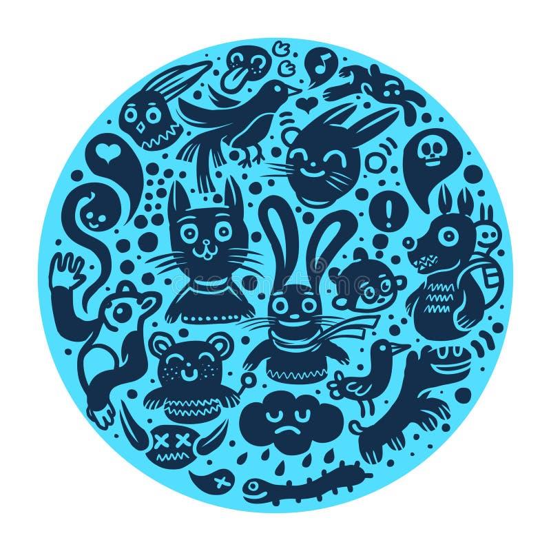 Download Joyful doodles background stock vector. Illustration of abstract - 12148723