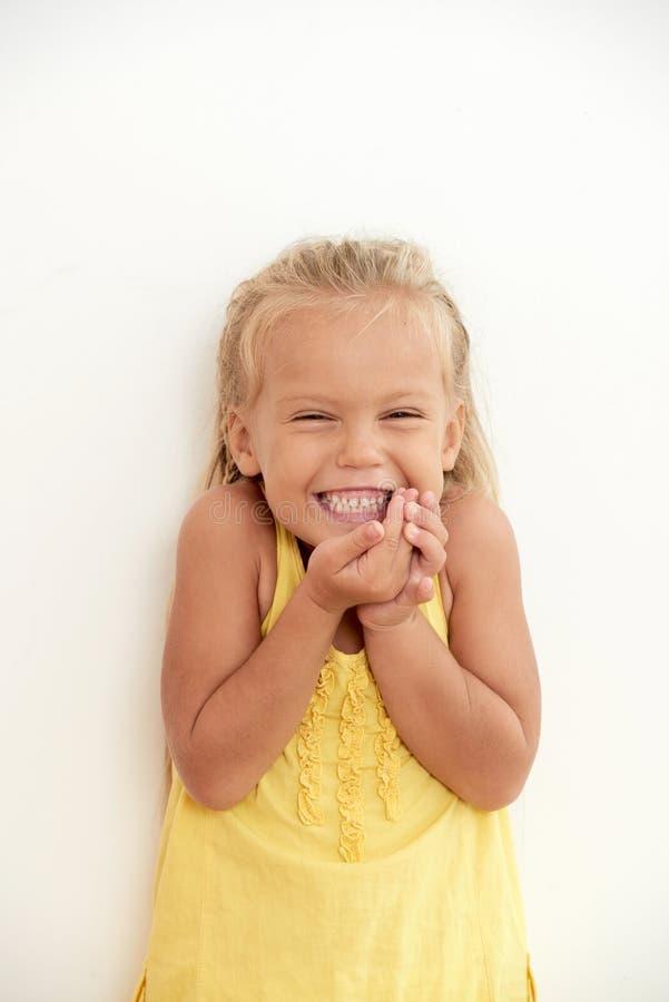Joyful excited girl stock images