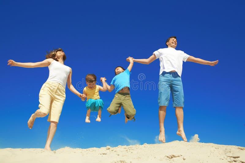 Download Joyful family stock photo. Image of happy, blue, parenthood - 17527988