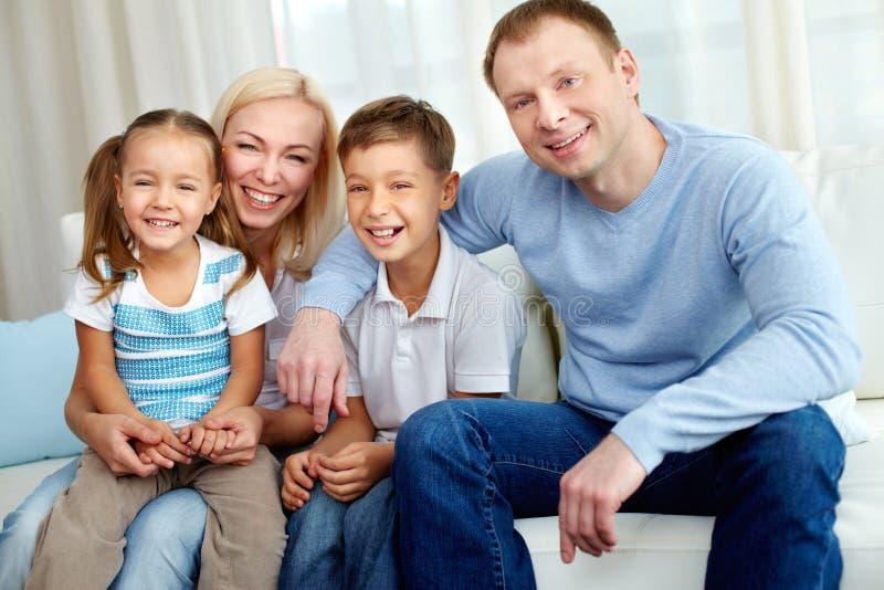 Download Joyful family stock photo. Image of generation, indoor - 27879512