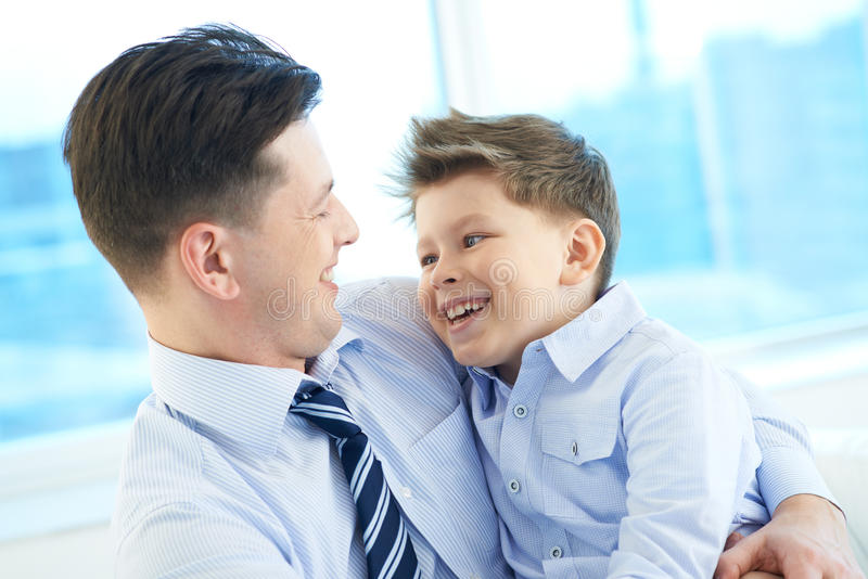Download Joyful father and son stock photo. Image of bonding, cheerful - 33382320