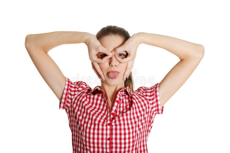 Download Joyful Female Teen Making A Face. Stock Image - Image: 22279781