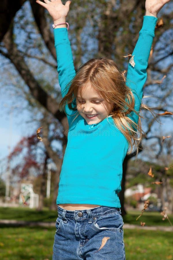 Download Joyful girl stock image. Image of smile, jump, child - 24607009