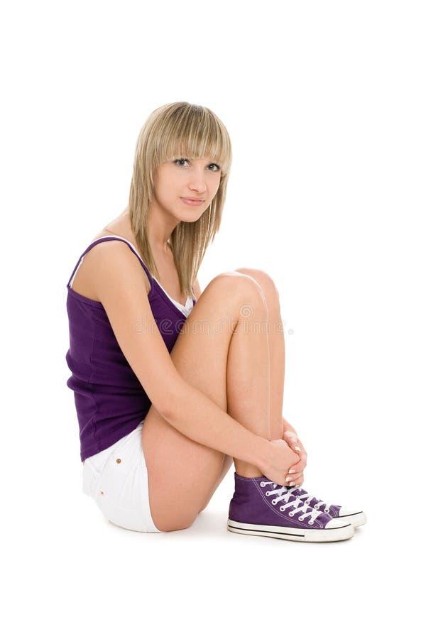Download Joyful girl blonde stock image. Image of female, isolated - 19316565