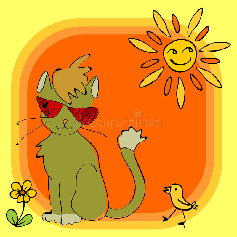 Download Joyful greeting card stock vector. Image of glasses, drawing - 24041622