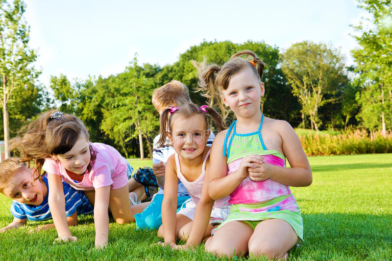Download Joyful kids stock image. Image of giggling, five, expression - 15646825