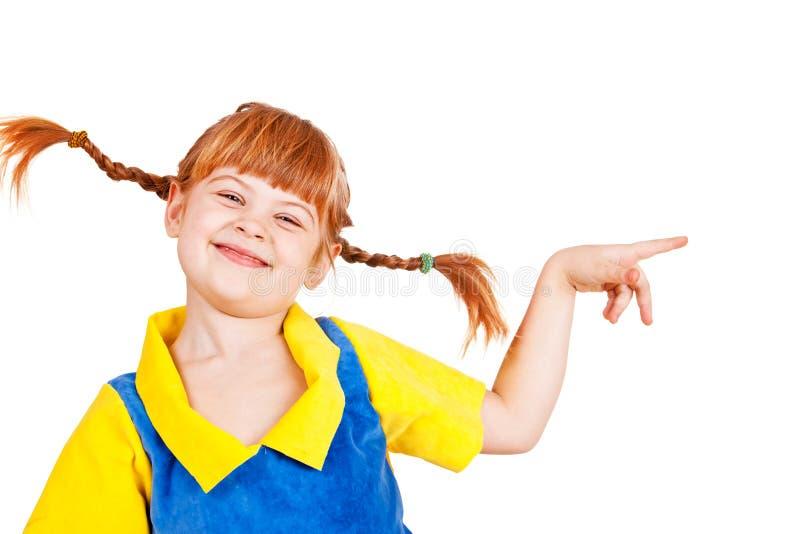 Joyful liten flicka royaltyfri foto