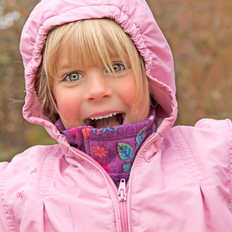 Download Joyful Little Girl stock image. Image of caucasian, fall - 35421357