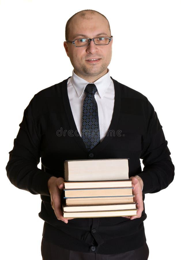 Joyful Man With Books Stock Image