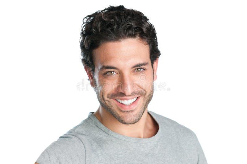 Joyful man face stock image