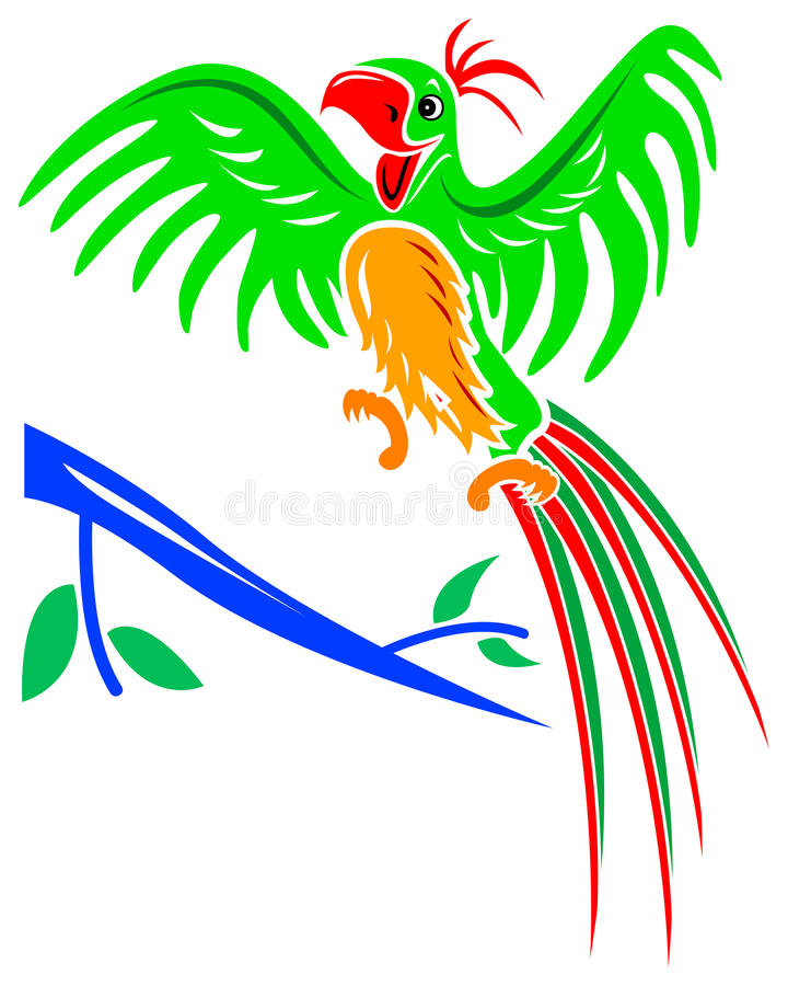 Download Joyful parrot stock vector. Image of illustrated, drawing - 19672957