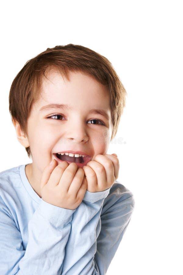 joyful pojke arkivbild