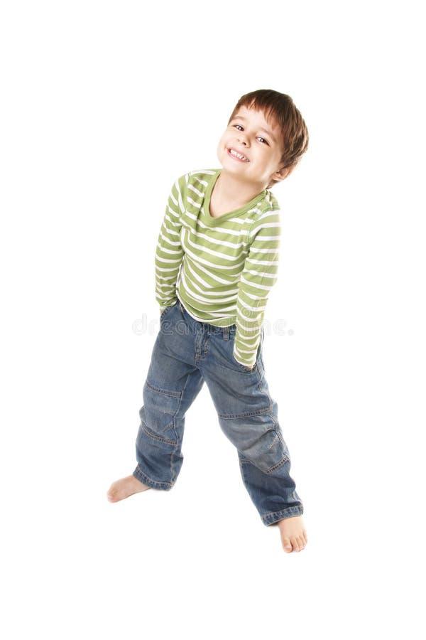 joyful pojke little arkivfoto