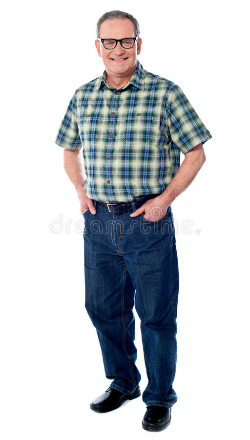 Download Joyful Senior Man Posing Casually Stock Image - Image: 24629099