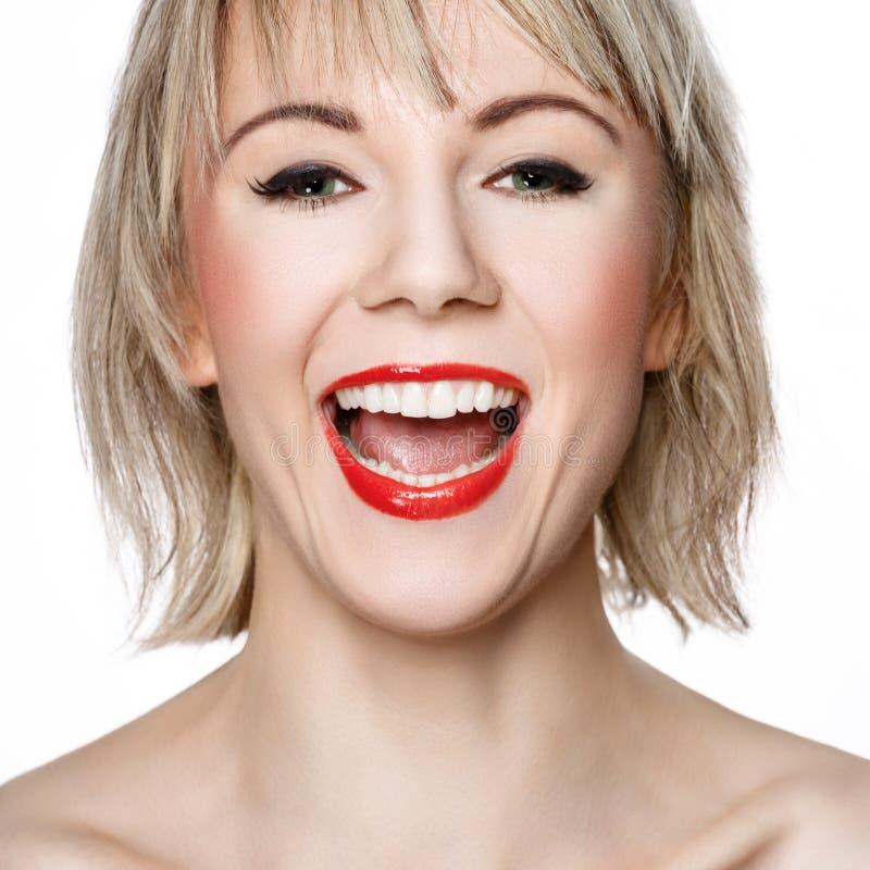 Download Joyful woman stock photo. Image of teeth, cosmetics, hairstyle - 28192774