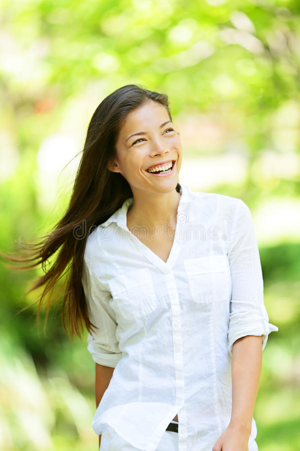 Free Joyful Woman In A Spring Or Summer Park Royalty Free Stock Photo - 30530085