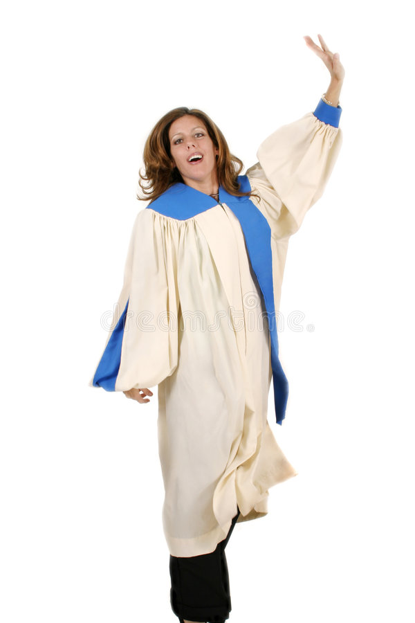 Joyful Woman In Praise Stock Photos