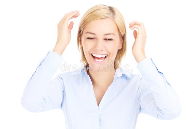 Download Joyful young businesswoman stock image. Image of adult - 39504303