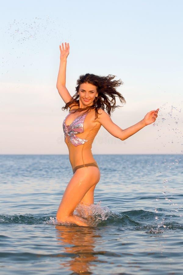 Download Joyful young woman stock photo. Image of motion, girl - 27859252