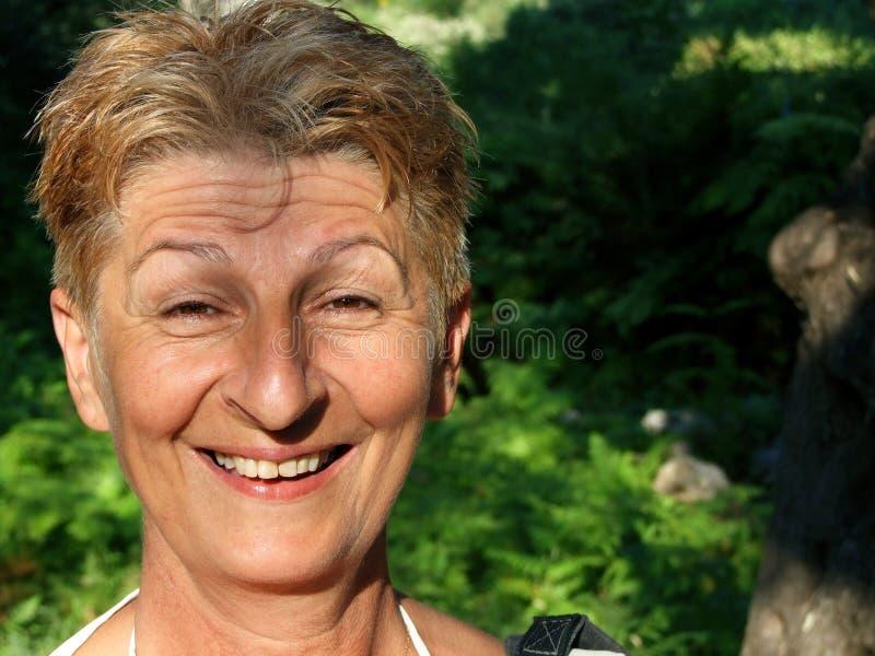 joyous leende royaltyfria bilder
