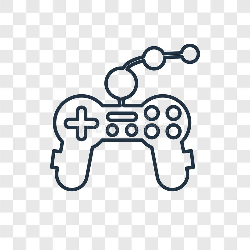 Joypad concept vector linear icon isolated on transparent background, Joypad concept transparency logo in outline style royalty free illustration