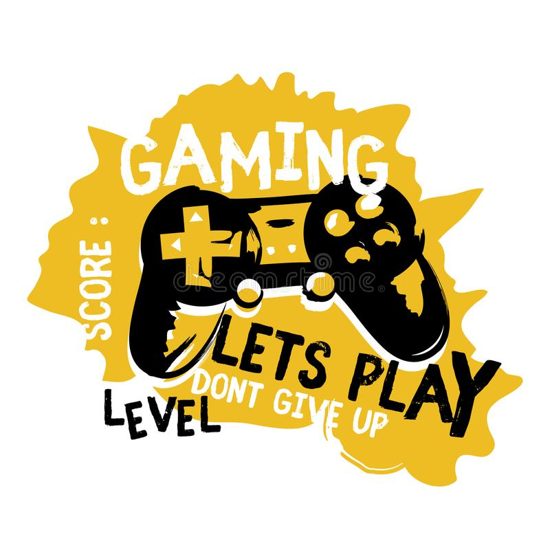 Joypad gaming illustration vector t shirt printing, poster, banner, abstract design royalty free illustration