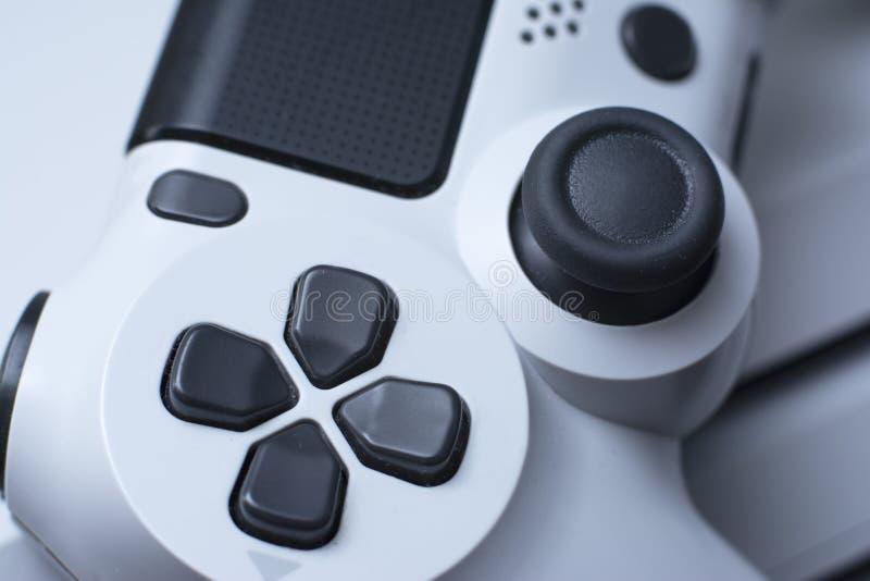 Joystic Gamepad macro Regulador del juego video Cierre para arriba imagen de archivo
