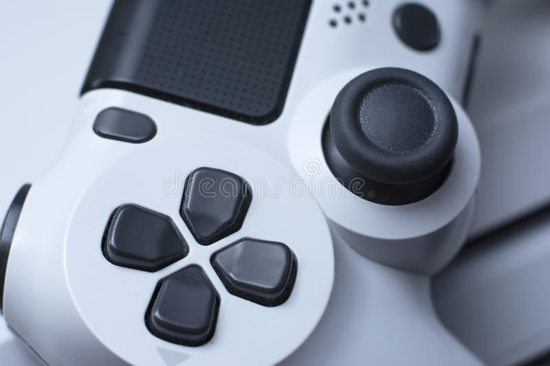 Joystic Macro gamepad Regolatore del video gioco Fine in su immagine stock