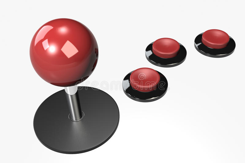 Download The Joystick stock illustration. Image of gameplay, navigate - 13474080