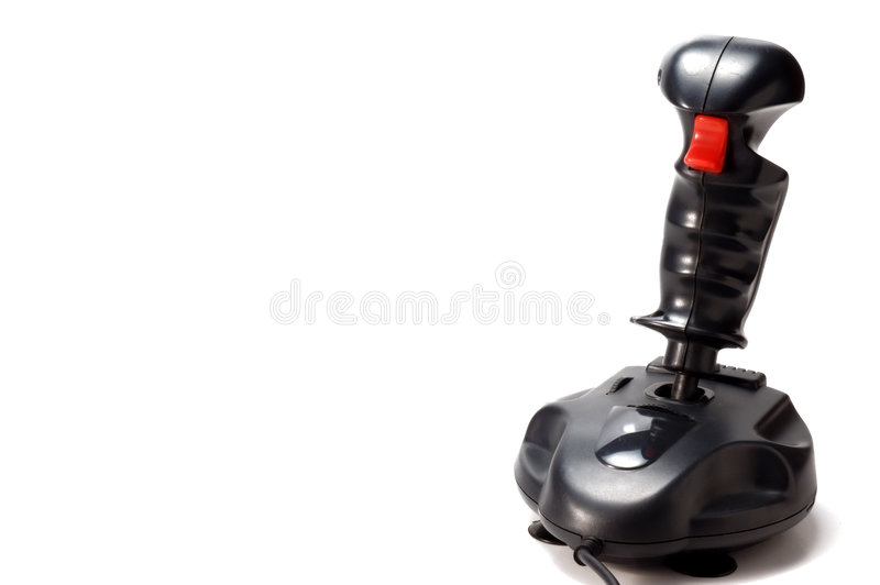 Joystick. A joystick on white background royalty free stock photography