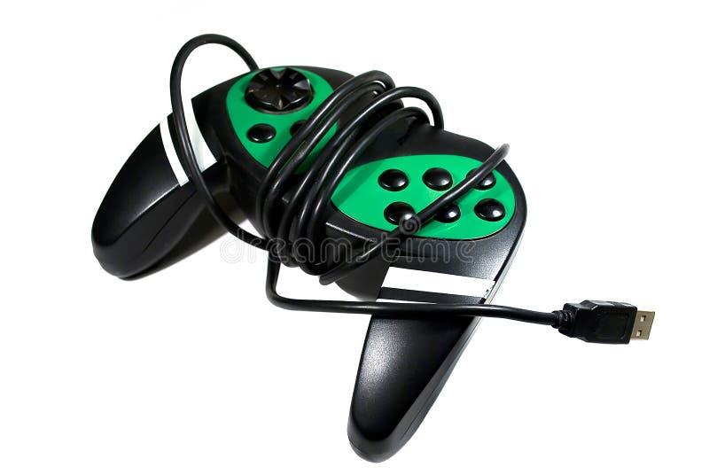 Joystick. Black joystick isolated on white background stock image