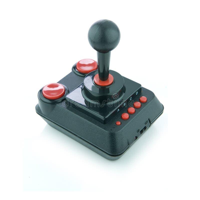 Joystick. Old school joystick isolated on white royalty free stock photography