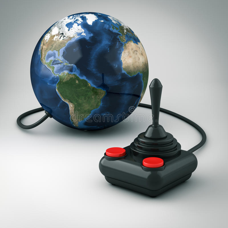 Download Joystick stock illustration. Image of buttons, isolated - 24556877
