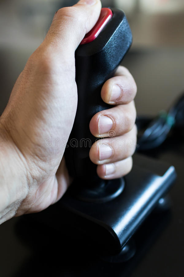 Joystick arcade game for computer and console from 80& x27;s. Black c royalty free stock image
