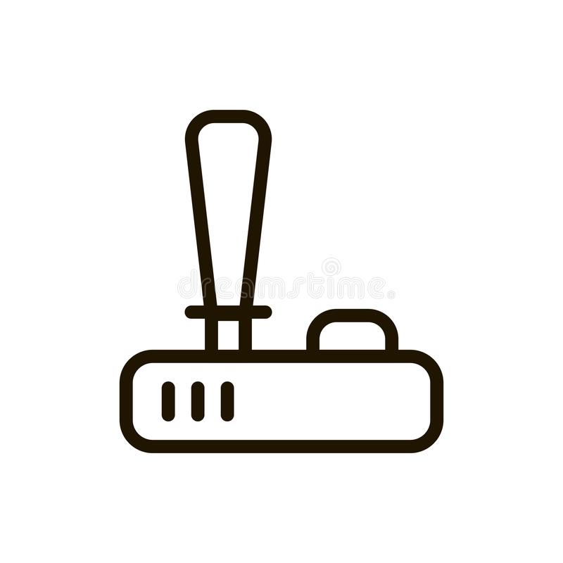 Joystick flat icon. Single high quality outline symbol of control for web design or mobile app. Thin line signs of game for design logo, visit card, etc stock illustration