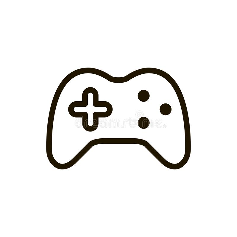 Joystick flat icon. Single high quality outline symbol of control for web design or mobile app. Thin line signs of game for design logo, visit card, etc royalty free illustration