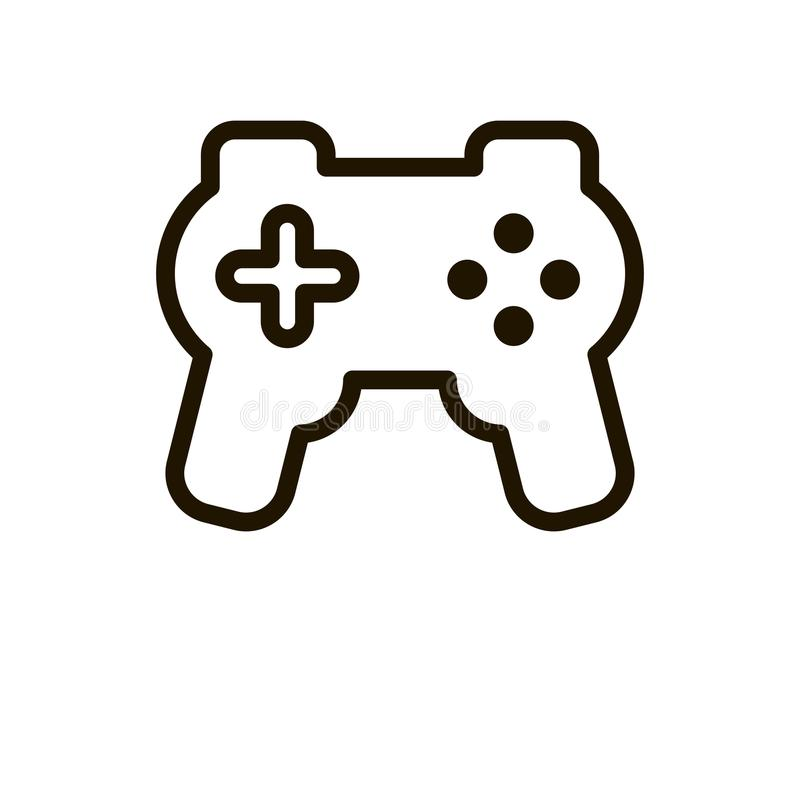 Joystick flat icon. Single high quality outline symbol of control for web design or mobile app. Thin line signs of game for design logo, visit card, etc vector illustration