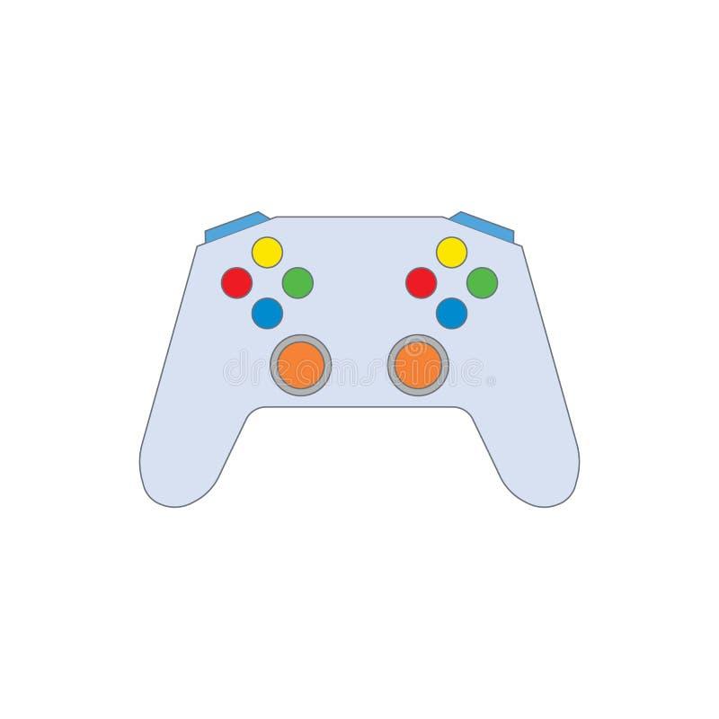 Joystick flat icon vector. Isolated on white background royalty free illustration