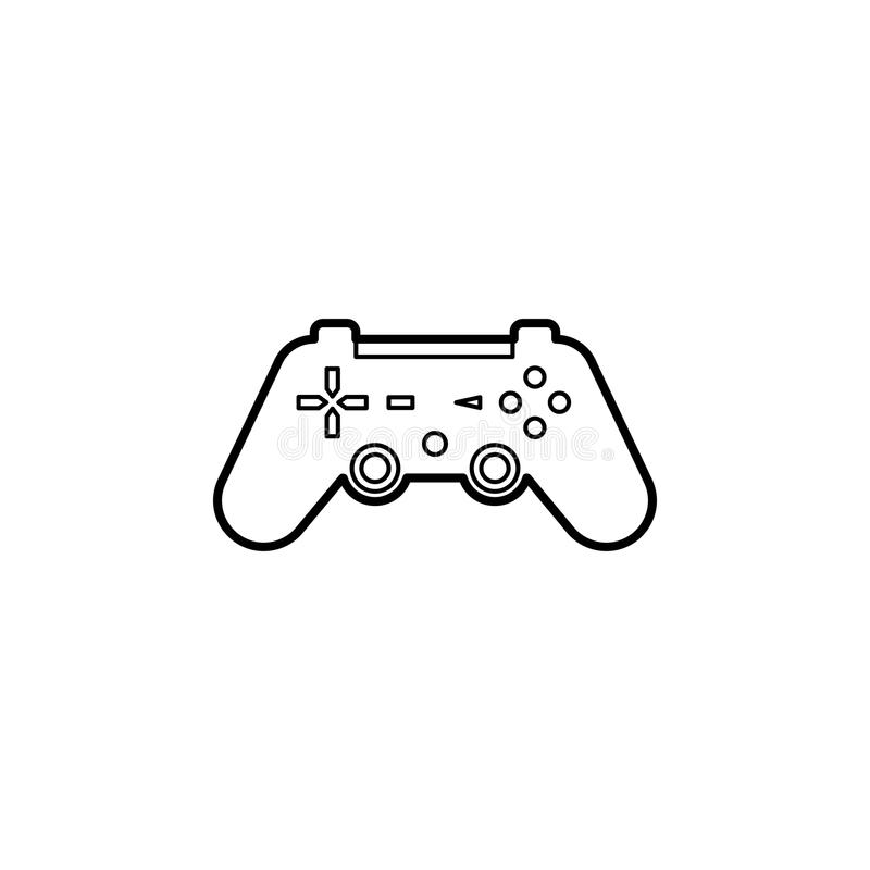 Joystick icon. Element of home appliances for mobile concept and web apps. Thin line icon for website design and development, app. Development. Premium icon on royalty free illustration