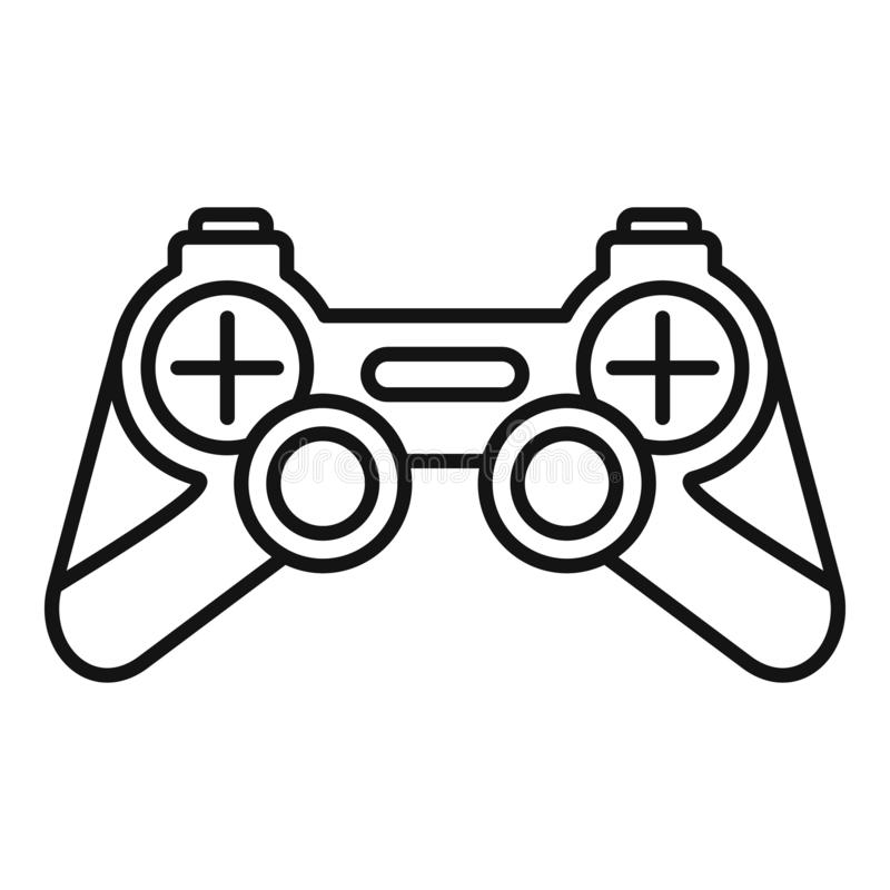 Joystick icon, outline style. Joystick icon. Outline joystick vector icon for web design isolated on white background royalty free illustration