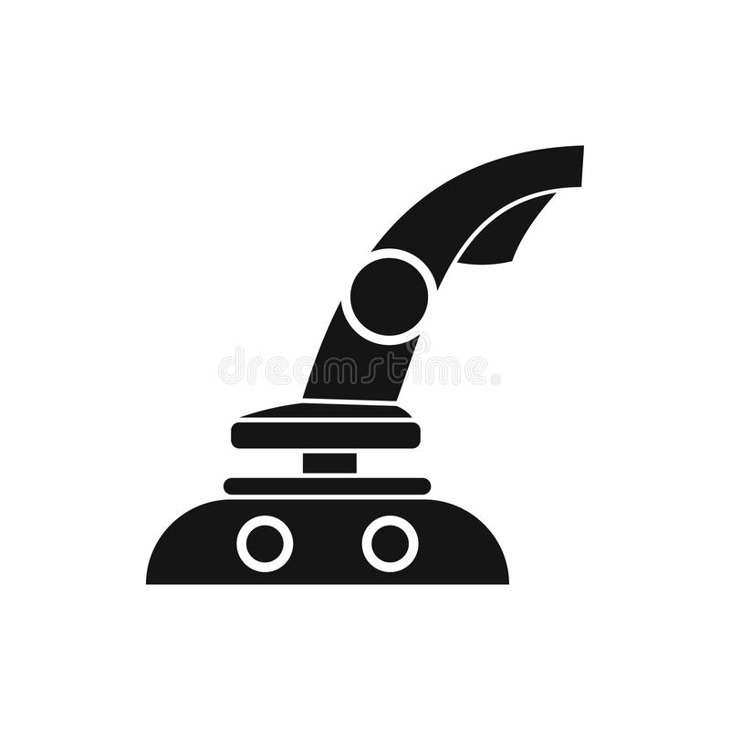 Joystick icon, simple style. Joystick icon in simple style on a white background royalty free illustration