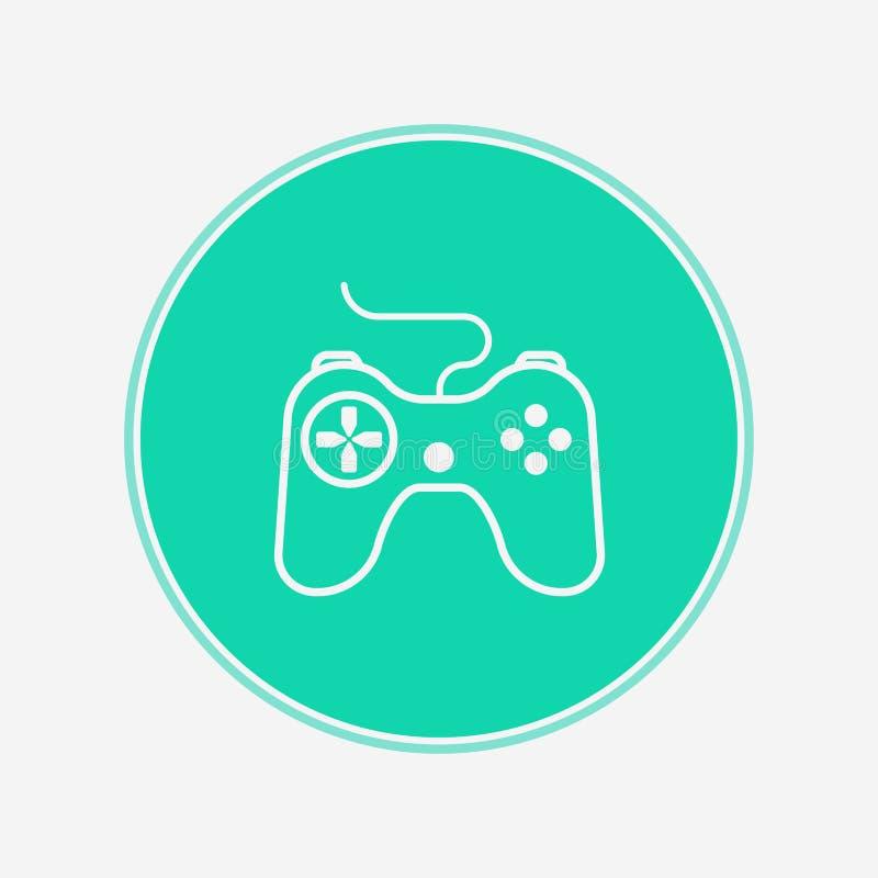 Joystick vector icon sign symbol. Joystick icon vector, filled flat sign, solid pictogram isolated on white. Symbol, logo illustration stock illustration