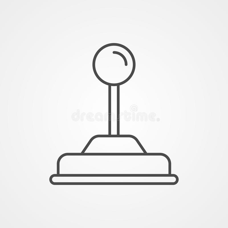 Joystick vector icon sign symbol. Joystick icon vector, filled flat sign, solid pictogram isolated on white. Symbol, logo illustration vector illustration