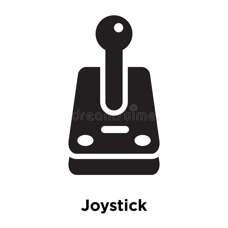 Joystick icon vector isolated on white background, logo concept stock illustration
