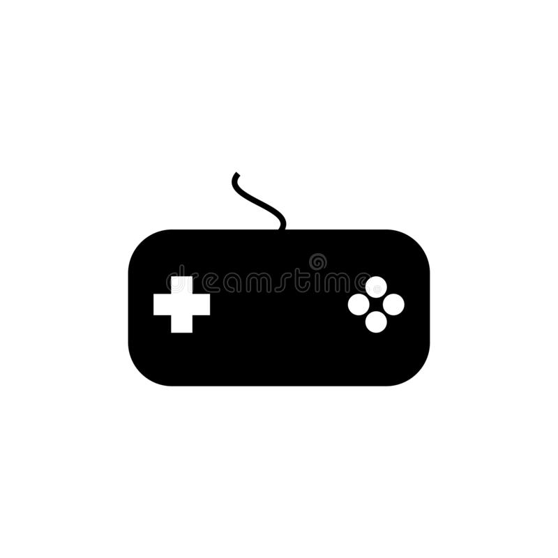 Joystick icon vector for web and mobile stock illustration