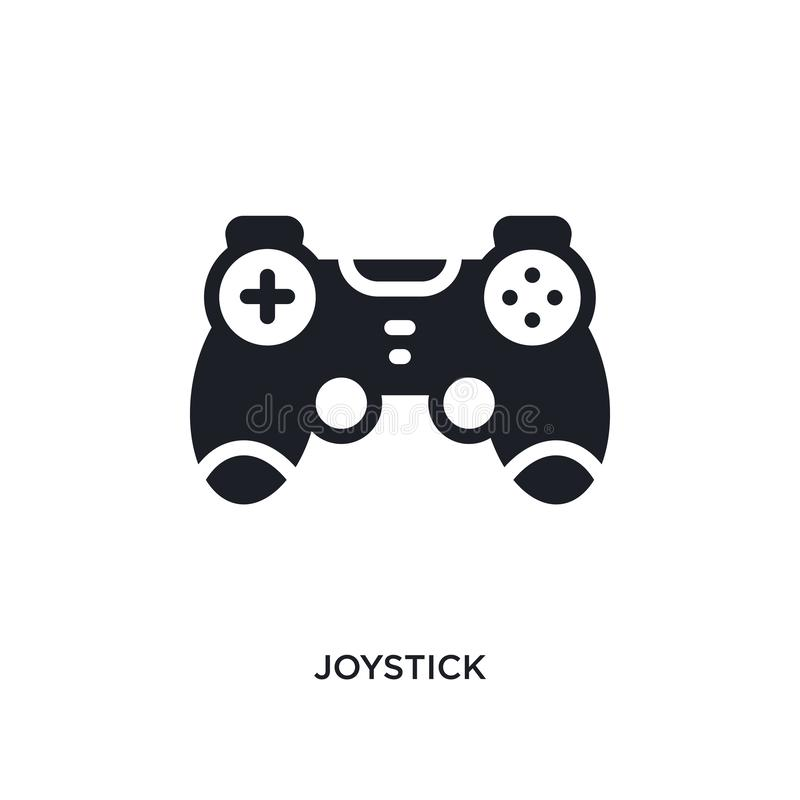 Joystick isolated icon. simple element illustration from electronic devices concept icons. joystick editable logo sign symbol. Design on white background. can royalty free illustration
